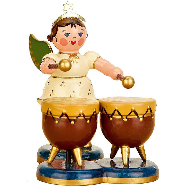 Angel with Kettle Drum  -  6,5cm / 2,5 inch