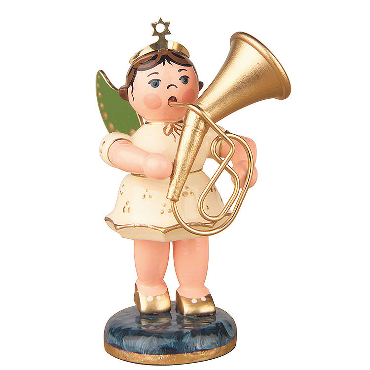 Angel with Tenor Horn  -  6,5cm / 2,5 inch