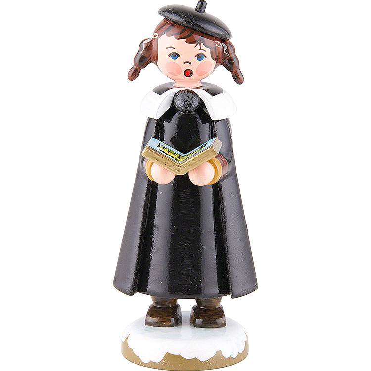 Winter Children Church Singers with Pigtail  -  8cm / 3 inch
