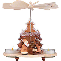 1 - Tier Pyramid Santa at the Striezel Market Natural  -  19,5cm / 7.7 inch