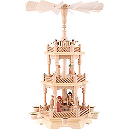 3 - Tier Pyramid  -  Nativity, Natural 49cm / 19.5 inch