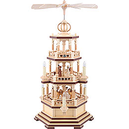 3 - Tier Pyramid  -  The Christmas Story  -  58cm / 23 inch  -  120 V Electr. Motor (US - Standard)