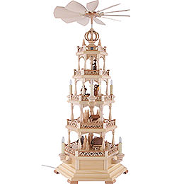 4 - Tier Pyramid  -  Forest Motif  -  Electrical 120 Volt (US - Standard)  -  71cm / 28 inch