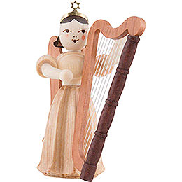 Angel Long Pleated Skirt with Harp, Natural  -  6,6cm / 2.6 inch