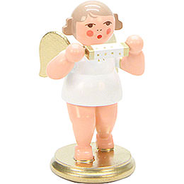 Angel White/Gold with Harmonica  -  6,0cm / 2 inch