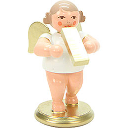 Angel White/Gold with Melodica  -  6,0cm / 2 inch