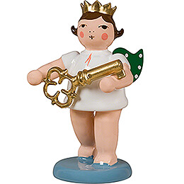 Angel with Crown and Key  -  6,5cm / 2.6 inch