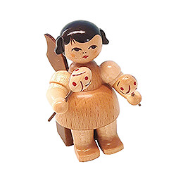 Angel with Maracas  -  Natural Colors  -  Sitting  -  5cm / 2 inch