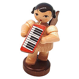 Angel with Melodica  -  Natural Colors  -  Standing  -  6cm / 2.4 inch