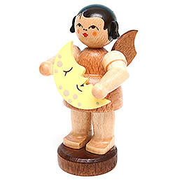 Angel with Moon  -  Natural Colors  -  Standing  -  6cm / 2.4 inch