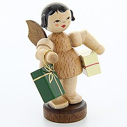 Angel with Presents  -  Natural Colors  -  Standing  -  6cm / 2.4 inch