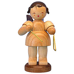 Angel with Triangle  -  Natural Colors  -  Standing  -  9,5cm / 3,7 inch