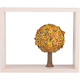 Apple Tree in Frame  -  without  Figurines  -  Autumn  -  13,5cm / 5.3 inch