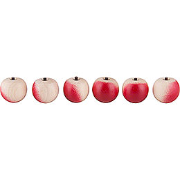 Apples  -  6 Pieces  -  without Hook  -  2cm / 1 inch