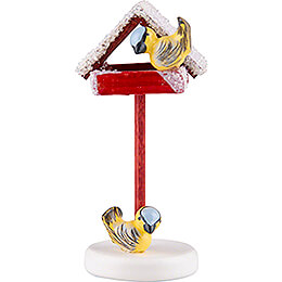 Bird House with Titmouse  -  4,5cm / 1.7 inch