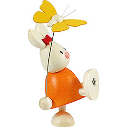 Bunny Emma with Butterfly  -  9cm / 3.5 inch