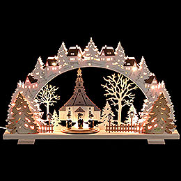 Candle Arch  -  Church of Seiffen with Carolers Exclusive  -  53x31x4,5cm / 21x8x1.8 inch