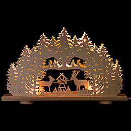 """Candle Arch  -  """"Feeding Ground"""" with Natural Hay  -  52x32x6cm / 20.5x12.6x2.4 inch"""