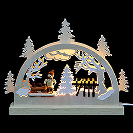 Candle Arch  -  Ice Skater (3 Figures)  -  23x15x4,cm / 9x6x2 inch