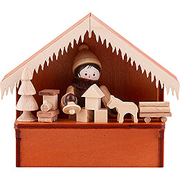 Christmas Market Stall Toys with Thiel Figurine  -  8cm / 3.1 inch