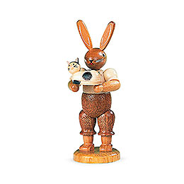 Easter Bunny with Cat  -  11cm / 4 inch