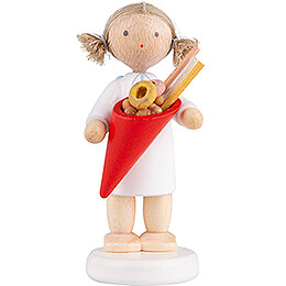 Flax Haired Angel with Candy  -  5cm / 2 inch