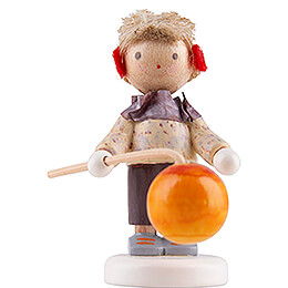 Flax Haired Children Little Boy with Lampion  -  Edition Flade & Friends  -  4cm / 1.6 inch