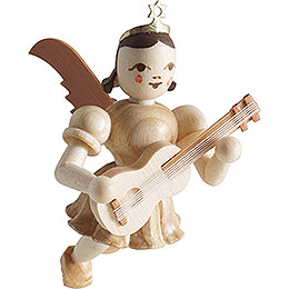 Floating Angel with Guitar  -  Natural  -  6,6cm / 2.6 inch