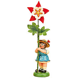 Flower Girl with Columbine  -  11cm / 4,3 inch