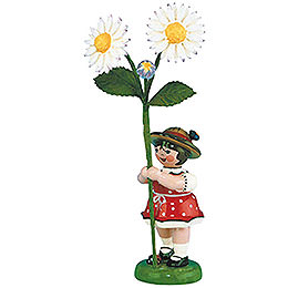 Flower Girl with Daisies  -  11cm / 4,3 inch