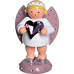 Good Luck Angel with SWAROVSKI - Heart and Candle Holder  -  8cm / 3.1 inch