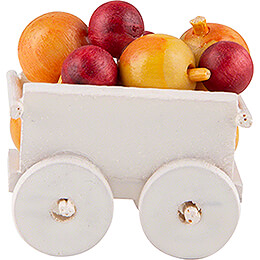 Hand Cart with Apples  -  2,4cm / 0.9 inch
