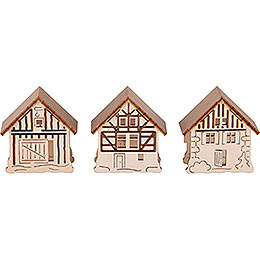 Houses for Candle Arch Lamps  -  3 pcs.  -  5,5x5cm / 2.2x2 inch