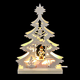 Light Triangle  -  Christmas Market  -  23.5x15.5x4.5cm / 9.06x5.91x1.57 inch