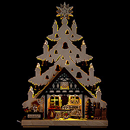 Light Triangle  -  Fir Tree  -  Gift Shop  -  32x44cm / 12.6x17.3 inch