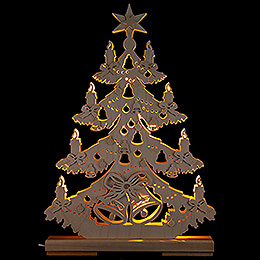 Light Triangle  -  Fir Tree with Ribbons  -  32x44cm / 12.6x17.3 inch