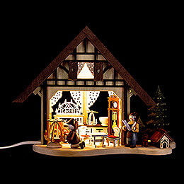 Lighted House  -  Christmas Parlor  -  17cm / 6.7 inch