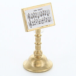 "Music Stand ""Stille Nacht"" (Silent Night)  -  Gold  -  4,5cm / 1.8 inch"