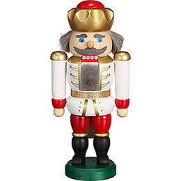 Nutcracker  -  Exclusive King White - Red  -  20cm / 7.9 inch