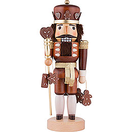 Nutcracker  -  Gingerbread King Natural Wood  -  37,5cm / 15 inch