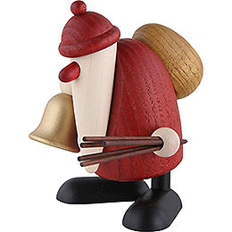 Santa Claus with Bell and Rod  -  9cm / 3.5 inch