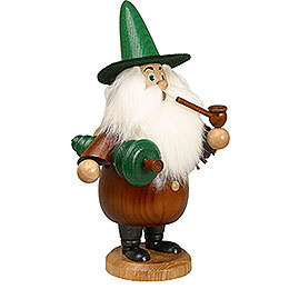 Smoker  -  Gnome with Tree Brown  -  19cm / 7 inch