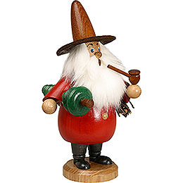 Smoker  -  Gnome with Tree Red  -  19cm / 7 inch