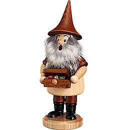 Smoker  -  Mountain Gnome with Treasure Box  -  18cm / 7.1 inch