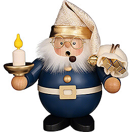 Smoker  -  Santa with Candle  -  16cm / 6.3 inch