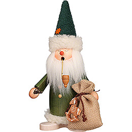 Smoker  -  Sleepy Head Santa Claus Green  -  26,5cm / 10.4 inch