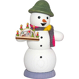 Smoker  -  Snowman with Candle Arch  -  13cm / 5.1 inch