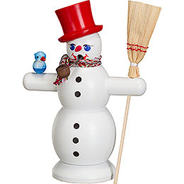 Smoker  -  Snowman with Red Hat  -  16cm / 6 inch