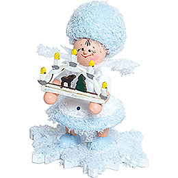Snowflake with Candle Arch  -  5cm / 2 inch