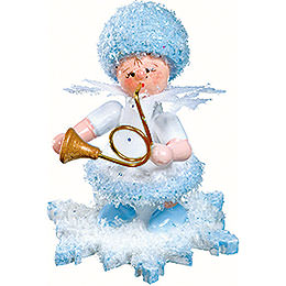 Snowflake with Horn  -  5cm / 2 inch